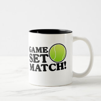 Game, Set, Match Two-Tone Coffee Mug