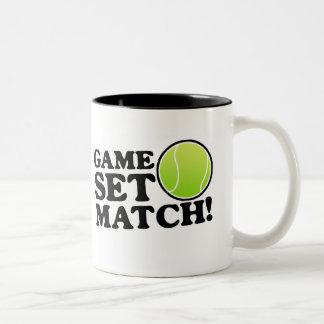 Game, Set, Match Two-Tone Coffee Mug