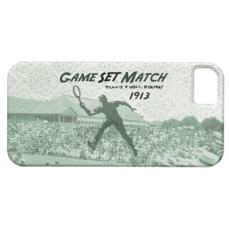 Game Set Match Vintage Tennis poster iPhone 5 Cover