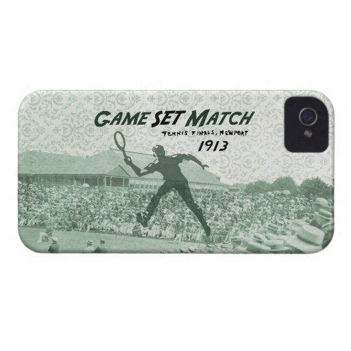 Game Set Match: Vintage Tennis poster Case-Mate Blackberry Case