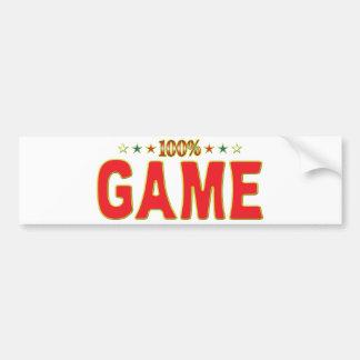 Game Star Tag Bumper Sticker