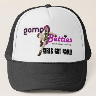 GameBetties hat_Black Trucker Hat