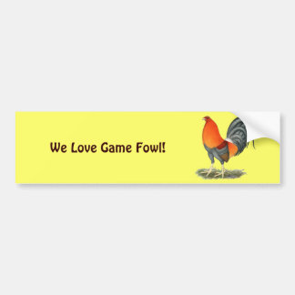 Gamecock Blue Red Bumper Sticker