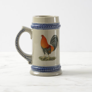 Gamecock Blue Red Rooster Beer Stein