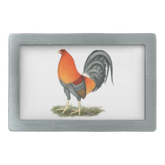 Gamecock Blue Red Rooster Belt Buckle