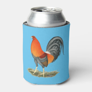 Gamecock Blue Red Rooster Can Cooler