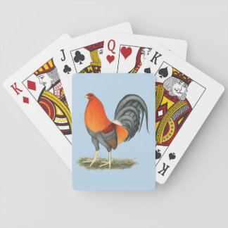 Gamecock Blue Red Rooster Poker Deck
