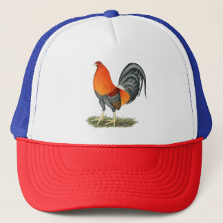 Gamecock Blue Red Rooster Trucker Hat