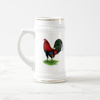 Gamecock:  Dark Red Beer Stein