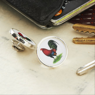 Gamecock:  Dark Red Lapel Pin