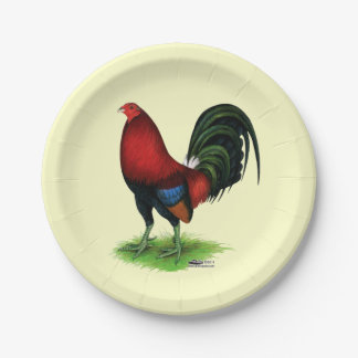 Gamecock:  Dark Red Paper Plate