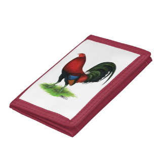 Gamecock:  Dark Red Trifold Wallets