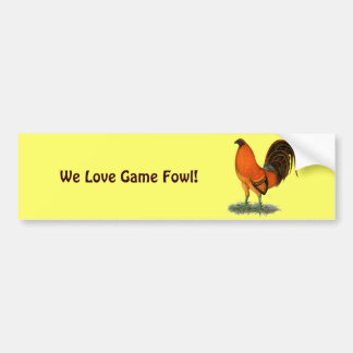 Gamecock Ginger Red Rooster Bumper Sticker