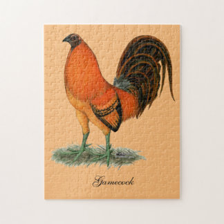 Gamecock Ginger Red Rooster Jigsaw Puzzle