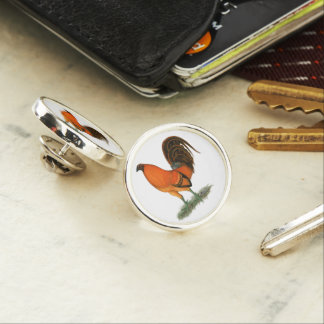 Gamecock Ginger Red Rooster Lapel Pin