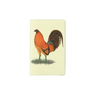 Gamecock Ginger Red Rooster Pocket Moleskine Notebook