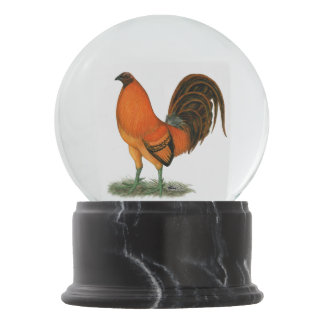Gamecock Ginger Red Rooster Snow Globes