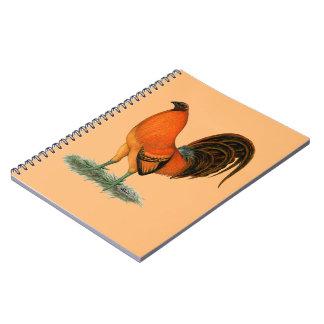 Gamecock Ginger Red Rooster Spiral Notebook