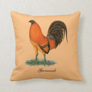 Gamecock Ginger Red Rooster Throw Pillow