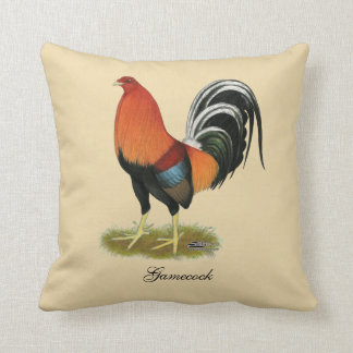 Gamecock Wheaten Rooster Cushion