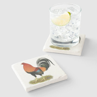 Gamecock Wheaten Rooster Stone Coaster