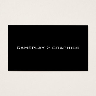 Gameplay > Graphics. Black White. Business Card