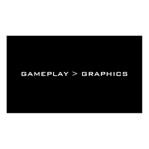 Gameplay > Graphics. Black White. Business Cards