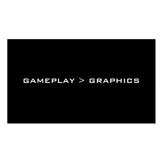Gameplay Graphics Black White Business Cards