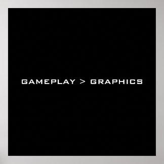Gameplay > Graphics. Black White. Poster