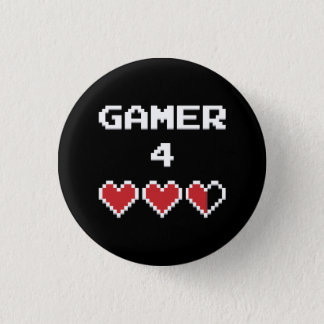 Gamer 4 Life 3 Cm Round Badge