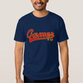 Gamer 4 Life T-shirt for Gaming Nerds and Geek