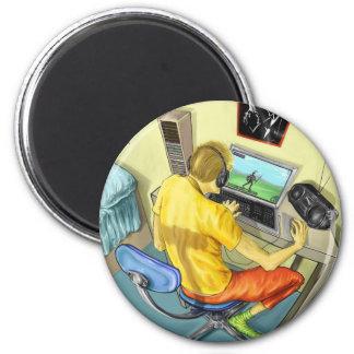 Gamer 6 Cm Round Magnet