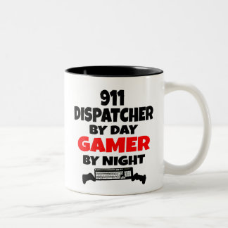 Gamer 911 Dispatcher Two-Tone Coffee Mug