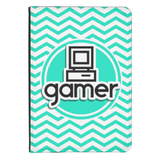 Gamer Aqua Green Chevron Kindle 4 Case