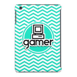 Gamer Aqua Green Chevron iPad Mini Cover