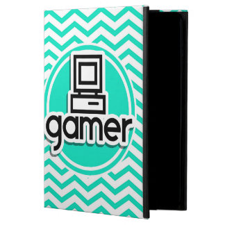 Gamer Aqua Green Chevron iPad Air Cases
