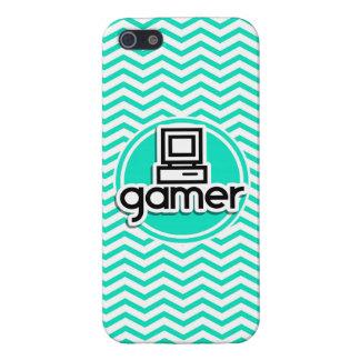 Gamer Aqua Green Chevron Case For iPhone 5