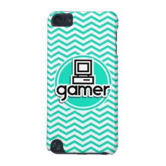 Gamer Aqua Green Chevron iPod Touch 5G Covers