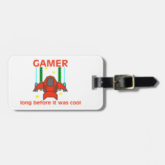 Gamer Before It Was Cool Retro Style Luggage Tag