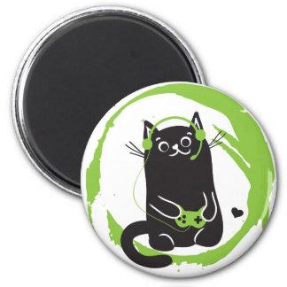 Gamer Cat Refrigerator Magnets