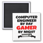 Gamer Computer Engineer Square Magnet
