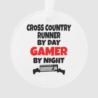 Gamer Cross Country Runner Ornament