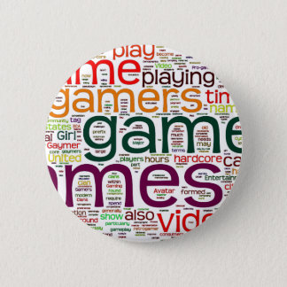 Gamer for all 6 cm round badge