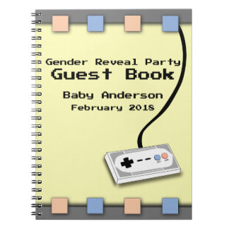 Gamer Gender Reveal Baby Shower Guest Book