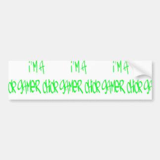 Gamer Girl (Green) Bumper Sticker
