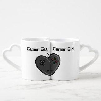 Gamer Girl & Guy Heart Shaped Controller Lovers Mugs