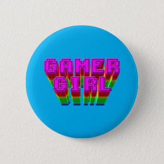 Gamer Girl Text 6 Cm Round Badge