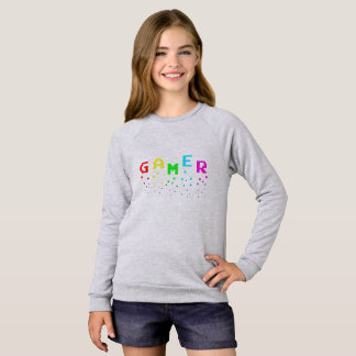 GAMER Girls' American Apparel Raglan Sweatshirt