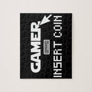 Gamer insert coin jigsaw puzzle