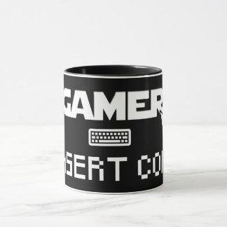 Gamer insert coin mug